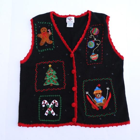 nutcracker tacky christmas sweater vest - Christmas Sweater Vest